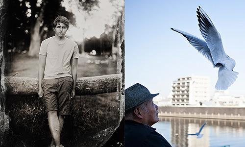 """aus den Serien """"muscles and bones"""" (Wien, 2013) und """"Am Fluss"""" (Tokio, 2015)"""