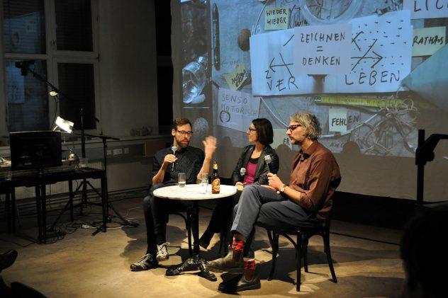 artist talk mit Nikolaus Gansterer und Thomas Raab, Foto Künstlerhaus Wien