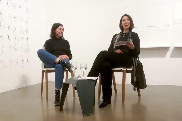Talk mit Maria Hanl im Bildraum 7 Wien. Foto: Ilse Chlan