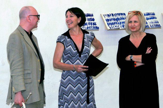 2011_3. Juni 11_ Vernissage Cornelia Caufmann Kunstwerkstatt Tulln mit Franz Kogelmann u Cornelia Caufmann